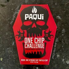 ☠️ 2020 Paqui One Chip Challenge 💀 Carolina Reaper Sichuan SEALED + Bubble Wrap