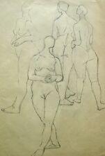 Maria Hassenpflug 1915-2010 München / Zeichnung 4 weibliche Akte / um 1935-40