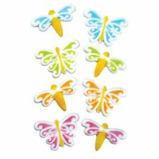 Sugar Decorations Cookie Cake Cupcake DRAGONFLY BUTTERFLY 12 ct.