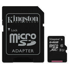 KINGSTON MICRO SDXC C10 64GB 64G 64 G CLASS 10 UHS-I U1 MICRO SD XC MEMORY CARD