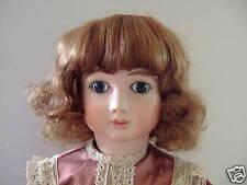 PERRUQUE pour POUPÉE T6 (27cm) 100%cheveux naturels Bouclée- Human Hair doll Wig