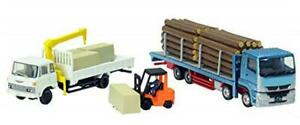 Tomytec The Truck Collection Tracole Sawmill Truck Set Diorama Supplies