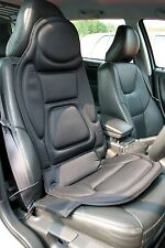 12V, Black Seat Cover. Thermal / Massage, Back Support Comfort Cushion.