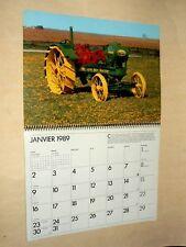 Calendrier JOHN DEERE LANZ 1989 affiche prospectus poster calendar brochure