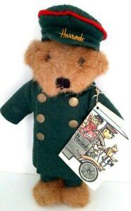 HARRODS KNIGHTSBRIDGE Teddy Bear Doorman Green Suit Logo VINTAGE WITH TAGS
