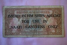 More details for british armed forces ships afloat naafi six pence 6d banknote rough but rare.