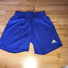 Adidas boys blue shorts sz M climalite
