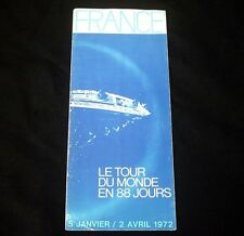 "CGT FRENCH LINE SS ""FRANCE"" World Cruise Brochure 1972"
