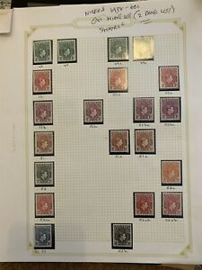 Nigeria 1938-40s GVI Mint Lot on Page Shades NW-163607