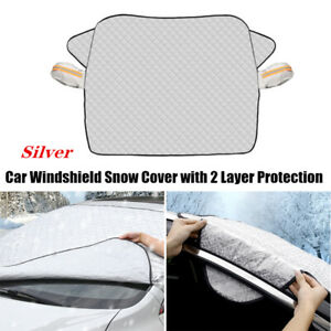 1X Car SUV Silver Cotton Windshield Snow Cover W/2 Layer Protection Universal