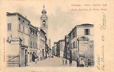 9460) FAENZA (RAVENNA) BARRIERA DI PORTA PONTI E CORSO SAFFI ANIMATA VG NEL 190?