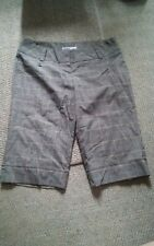000 Womens Charlotte Russe Size 9 Plaid Gray Shorts