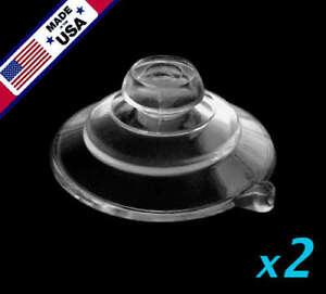 "(2) 1-1/4"" USA FINEST Small Ultra-Duty Mushroom Head Suction Cups 1 LB HOLD"