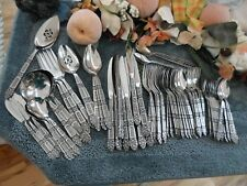 Oneida 18/8 USA Community Stainless CORONATION 87pcs Service Set Excellent