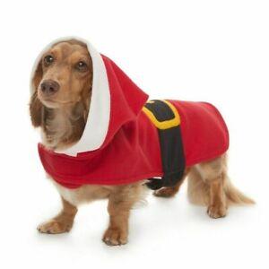 Pet Jammies For Your Families Santa Suit Microfleece Bodysuit Small Dog
