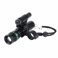 Compact Red Dot Laser Sight Scope CREE ZOOM LED Torch Flashlight w/ Mount Rinng
