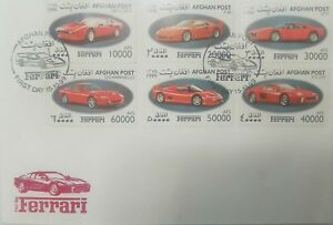 L) 1999 AFGHANISTAN, FERRARI, F-50, 208 TURBO, CAR COLLECTION, MULTIPLE STAMPS