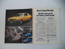 advertising Pubblicità 1976 COUPE' RENAULT 177/15