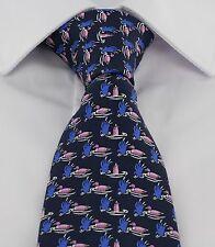 Michelsons of London Navy Ducks Silk Tie