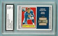 2001 Frank Gifford Topps Archives Yankee Stadium SEAT Card #53!  PGA MINT 10!