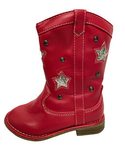 Old Navy baby tall boots red zip up size US 5