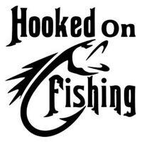 fishing decal bass crankbait lure kayak rod buoy net fish tackle box sticker