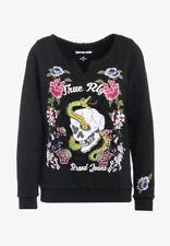 TRUE RELIGION Sweatshirt mit Stickereien aus Baumwolle, L, Neu