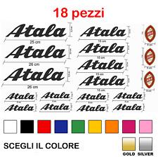 KIT 18 ADESIVI PRESPAZIATI BICI ATALA Bike Bicicletta logo a colori Bici