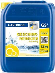GASTROzid® GS1 Geschirrreiniger flüssig 12 kg für gewerbliche Spülmaschinen