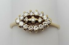 Beautiful 18K Karat Solid Yellow Gold Ladies Vintage Designer Diamond Ring