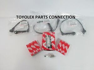 NEW GENUINE LEXUS IS300 GS300 FACTORY OEM SPARK PLUGS (6)  WITH WIRE SET (3)
