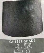 20cm Long BLACK GLITTER Dual FASHION Drum Hang Ceiling Shade Table Lamp DECOR UK