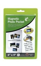 "3 x MAGNETIC PHOTO PICTURE PHOTOGRAPH HOLDERS POCKETS 6"" X 4"" FAST FREE POST"