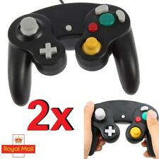 2x GameCube Controller Gamepad Black Controller for Nintendo GameCube GC Joypad