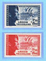 FRANKREICH 576/77 ** LEGION TRICOLORE 1942 = FRANCE Yvert 565/566 neuf