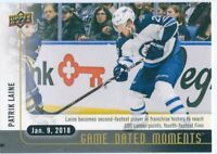 17/18 UPPER DECK GAME DATED MOMENTS #35 PATRIK LAINE JETS 100 POINTS *49516