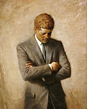 JOHN F. KENNEDY OFFICIAL PORTRAIT PAINTING 8x10 SILVER HALIDE PHOTO PRINT