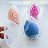 Mildew proof Powder Puff Drying Holder Egg Shaped Makeup Sponge Storage Case  UK