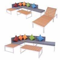 vidaXL Garden Sofa Lounge Set 19/20 Piece Aluminum WPC Outdoor Patio Furniture