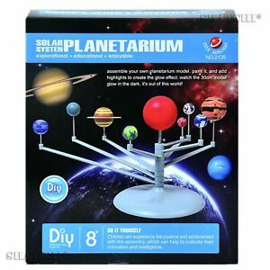 3D DIY Solar System Model Kit Science Project Kids Educations Toy Birthday Gift