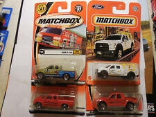 MATCHBOX FORD PICKUP TRUCK LOT 4 EXPLORER SPORT TRAC F150 CONTRACTOR 97 FREE SHP