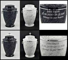 Human Casket Urn for Ashes Memorial Cremation Funeral Personalised Inscription