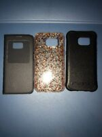 Lot Of 3pc Samsung Galaxy S7 Ballistic   , Original Flip , Case Mate Gold Cases