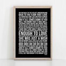More details for fleetwood mac gypsy song lyrics poster print wall art