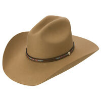 "Resistol McCoy 3X Wool Collection Felt Men's Western Cowboy Hat 4 1/4"" Brim"