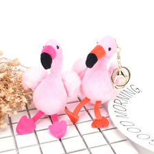 Fluffy Unicorn Flamingo Pendant Key Chains Plush Car Bag Key chain Nice JX