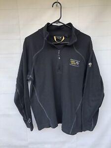 Mountain Hardwear MicroChill Lite Zip T Fleece Sweater Jacket Black Men's Sz L