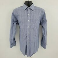 Brooks Brothers Dress Shirt R24 Regent 15.5 33 M Non Iron Blue