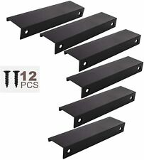 6PCS Cabinet Finger Pull Tab Edge Pull Kitchen Cabinet Hardware Drawer Handles