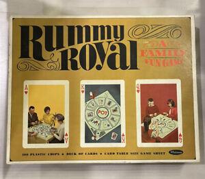 1965 Rummy Royal Card Board Game Set ~ Whitman #4804 ~ used